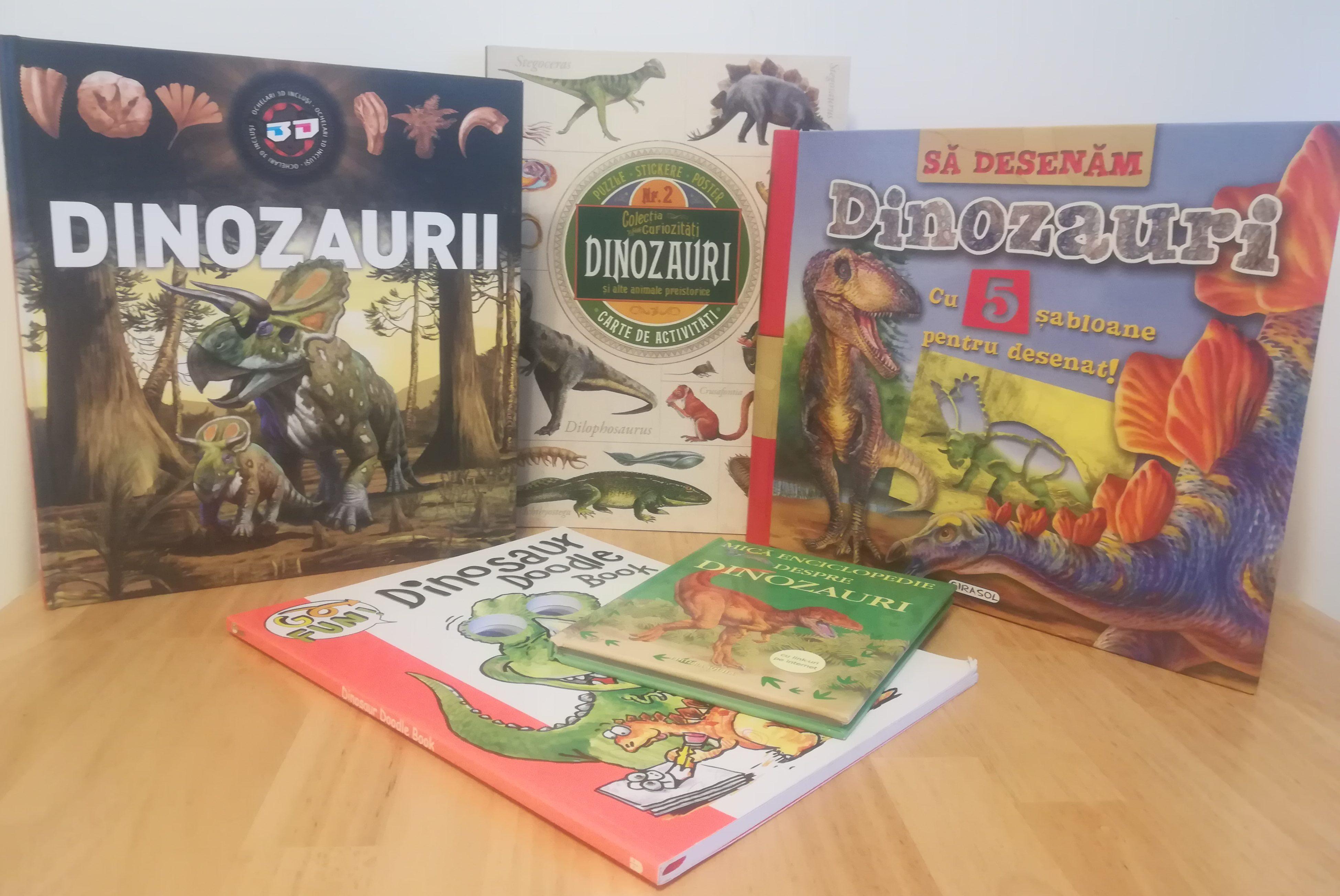 5 cărți despre dinozauri din care am învățat, dar ne-am și distrat