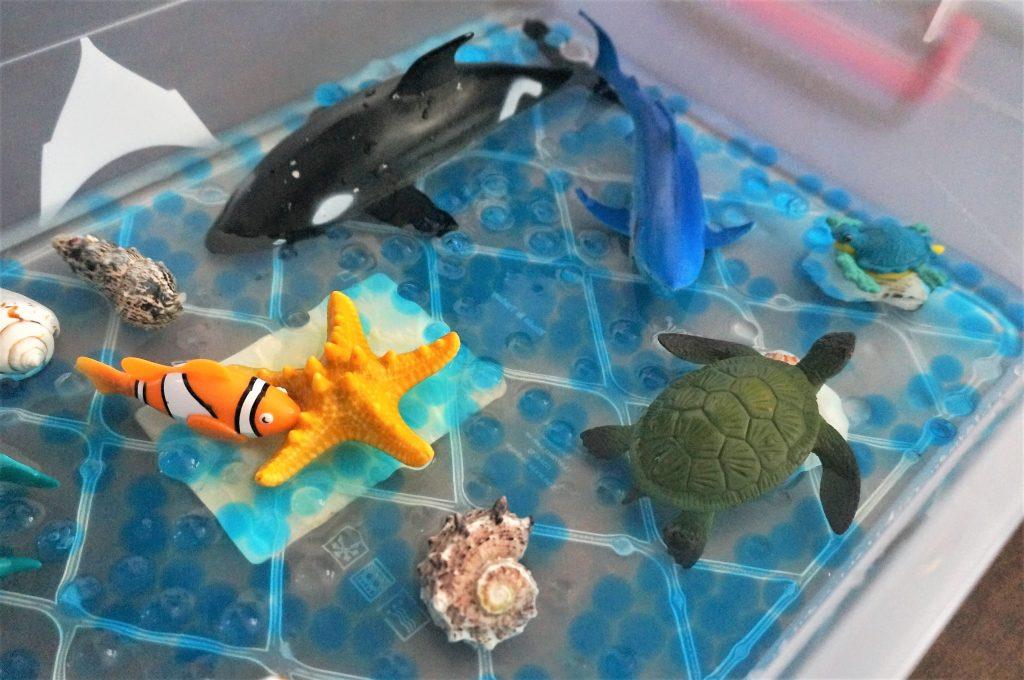 tavita senzoriala cu animale marine