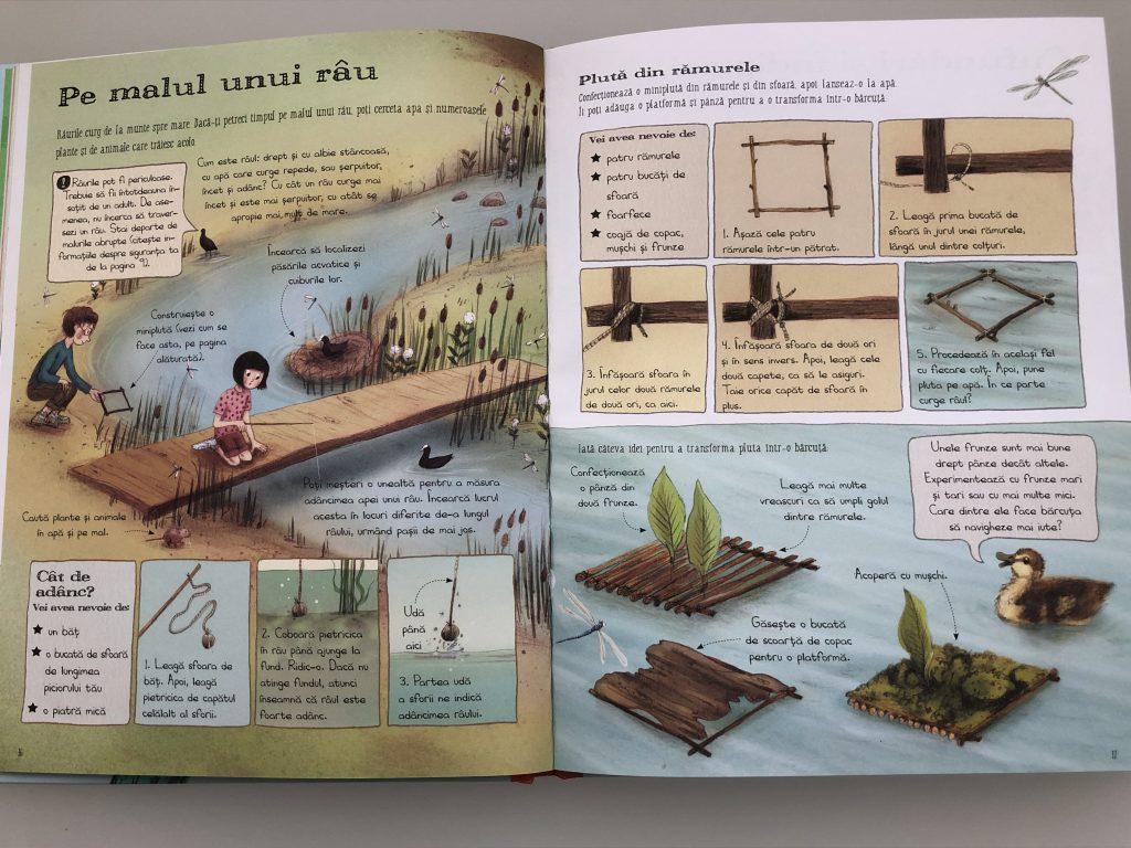 In natură: cum construim o plută.
