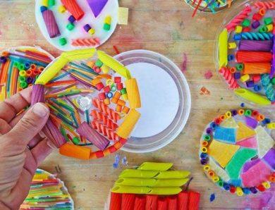 Jocuri și activități în casă – Creații cu paste