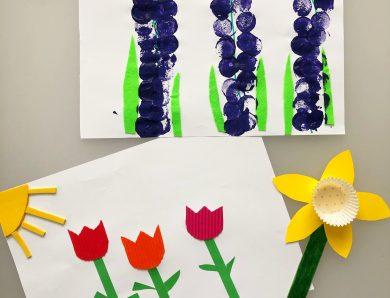 Flori de primăvară – art&craft pentru 4 ani