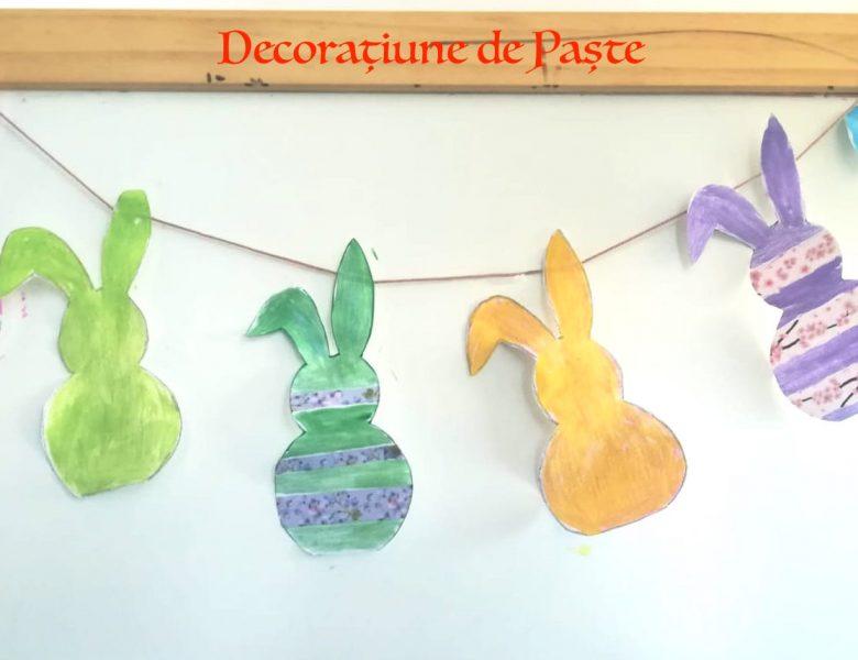 Decorațiuni de Paște: ghirlande din iepurași