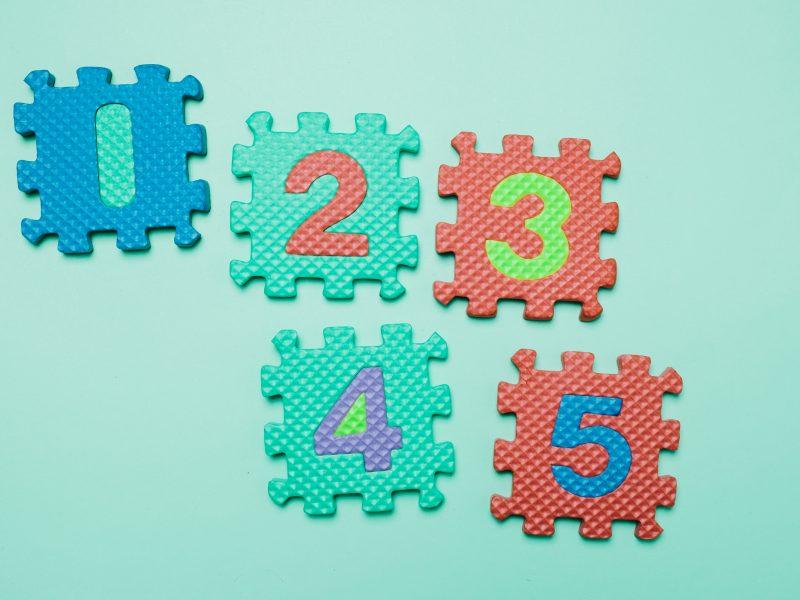 Numărăm până la 5 – activități pentru 4+ ani