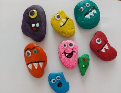 Pictură pe pietre: monștrii pietrelor