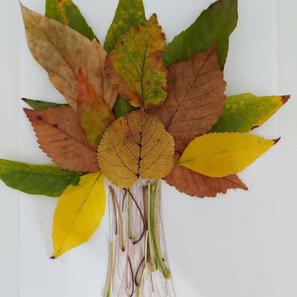 activități de toamnă cu frunze