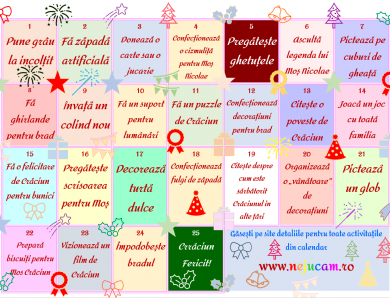 Calendar Advent de Crăciun