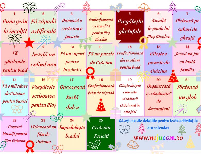 Calendar Advent de Crăciun